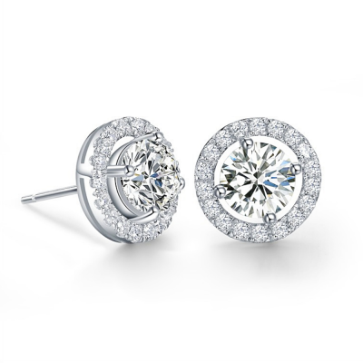CZ Collection Crystal Stud Earrings