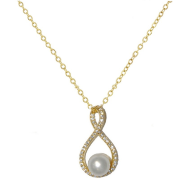 CZ Collection Exquisite Necklace - Gold