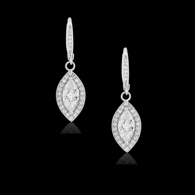 CZ Collection Dainty Crystal Drop Earrings