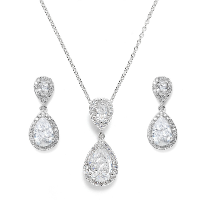 CZ Collection Chic Necklace Set