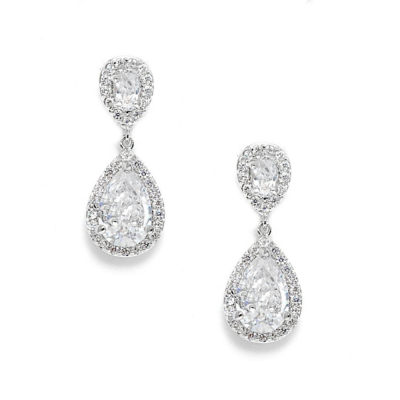 CZ Collection Chic Crystal Earrings
