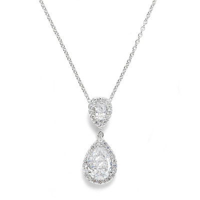 CZ Collection Chic Necklace - Silver