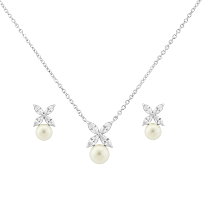 CZ Collection Simply Chic Necklace Set