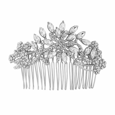 Athena Extravagance Hair Comb - Silver