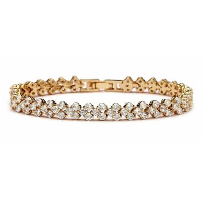 Cubic Zirconia Crystallure Bracelet - Gold