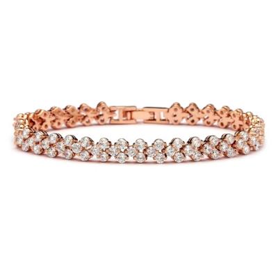 Cubic Zirconia Crystallure Bracelet - Rose Gold