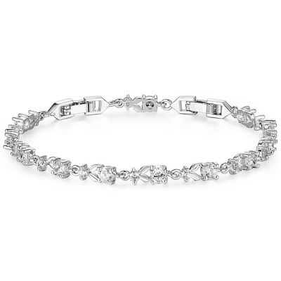 Cubic Zirconia Collection Chic CZ Tennis Bracelet - Silver