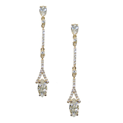 CZ Collection Dainty Sparkle Earrings - Gold