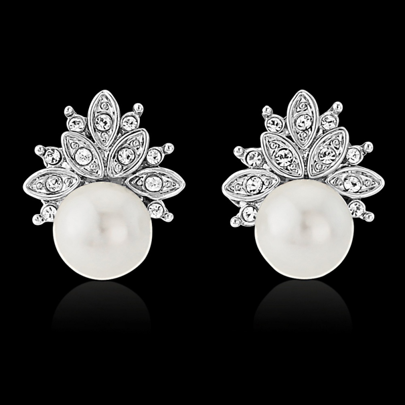 CZ Chic Pearl Earrings