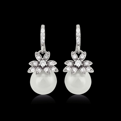 CZ Collection Vintage Chic Earrings - A