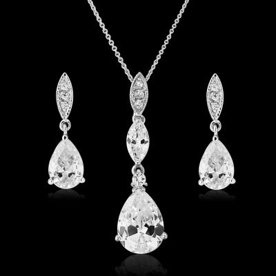 CZ Collection Bridal Necklace Set