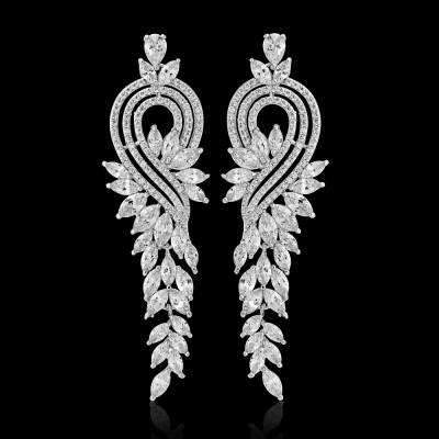 CZ Collection Crystal Extravagance Earrings