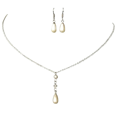 Athena Collection Simply Chic Pearl Necklace Set