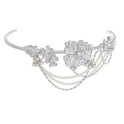 Elite Collection Bejewelled Statement Piece Brow Band