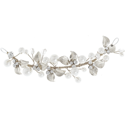 Elite Collection Mini Luxe Silver Hair Vine