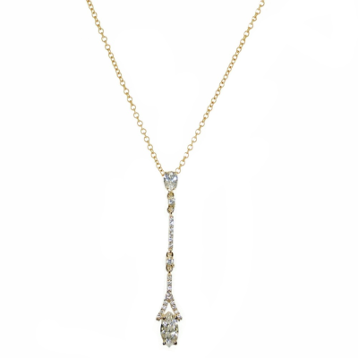 CZ Collection Dainty Sparkle Necklace - Gold