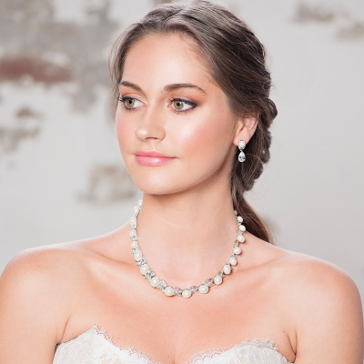 CZ Collection Luscious Pearl Necklace