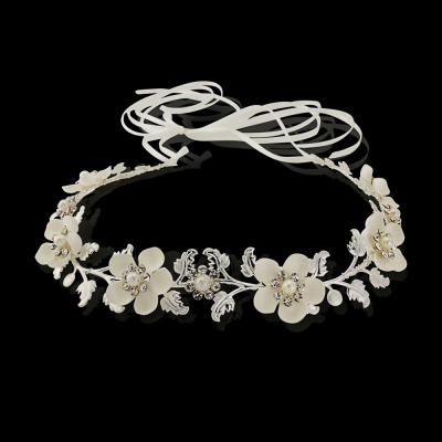 Sass B Opulence Floral Hairvine - Silver