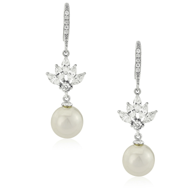 CZ Collection Crystal Elegance Earrings