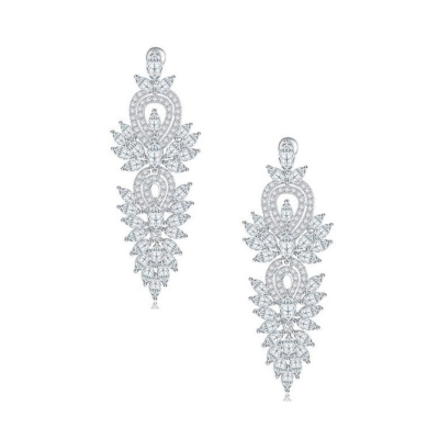 CZ Collection Crystal Lush Earrings