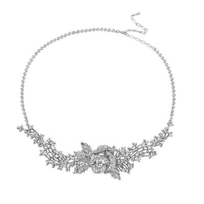 Sass B Crystal Rose Headpiece