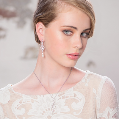 CZ Collection Enchanting Earrings - Rose Gold