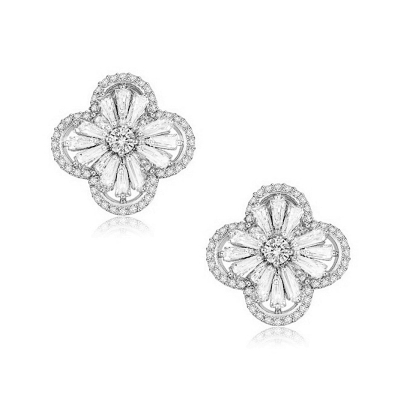 CZ Collection Gatsby Glam Earrings