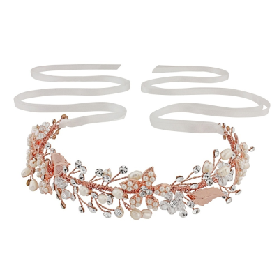 Sass B Jasmine Romantic Vine Headpiece Rose Gold