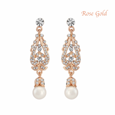 Vintage Dream Earrings - Ivory - Rose Gold