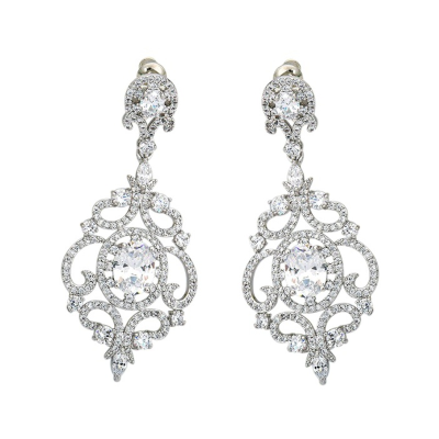CZ Collection Starlet Crystal Treasure Earrings