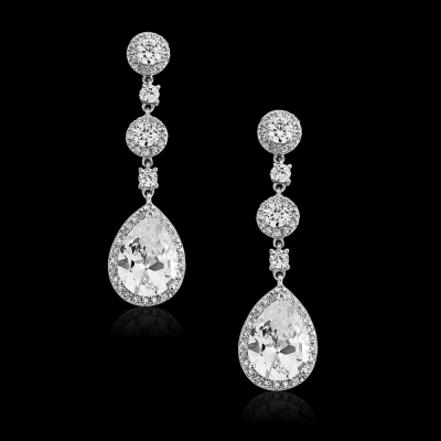 CZ Collection Eternally Crystal Earrings