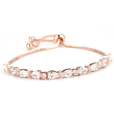 Chic CZ Bracelet - Rose Gold -Adjustable