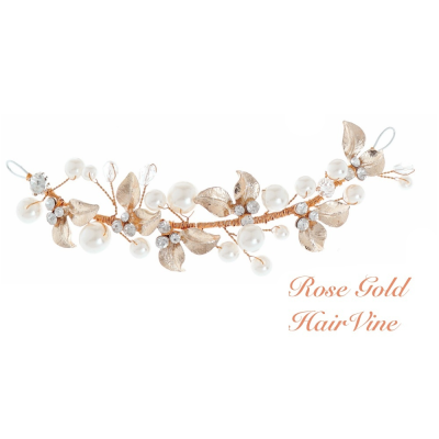 Elite Collection Mini Luxe Rose Gold Hair Vine