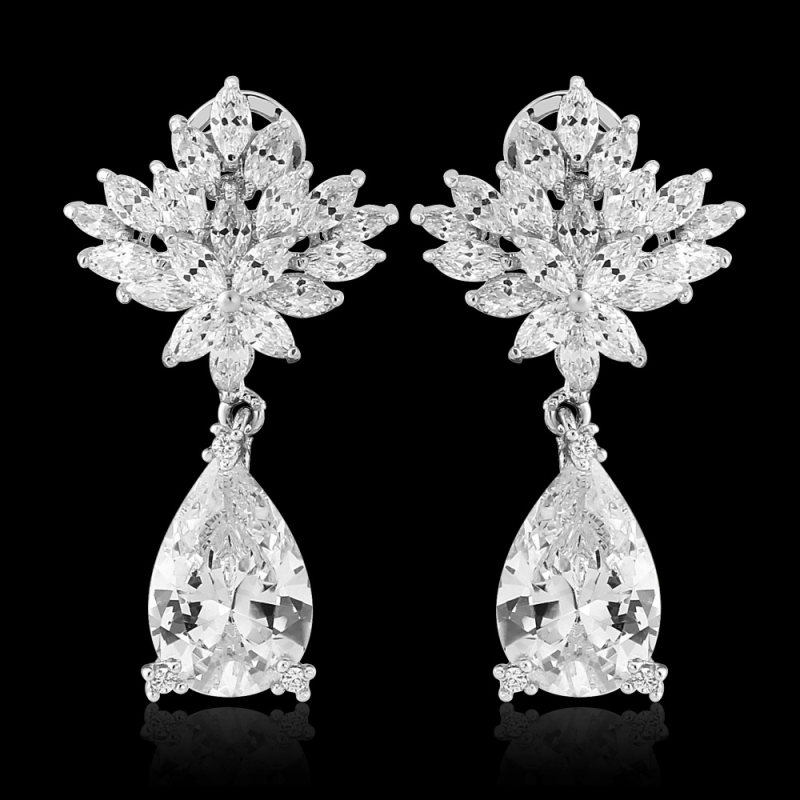CZ Collection Vintage Glam Petite Earrings