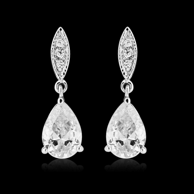 CZ Collection Classic Sparkle Earrings