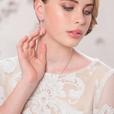 CZ Collection Dainty Sparkle Necklace Set - Rose Gold