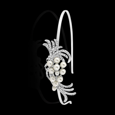 Athena Chic Pearl Headband - Silver