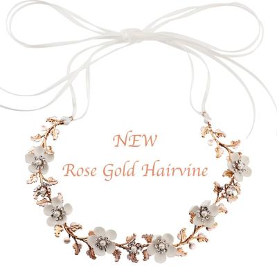 Sass B Opulence Floral Hairvine - Rose Gold