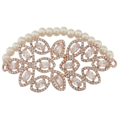 Sass B Collection Statement Stretch Bracelet - Rose Gold