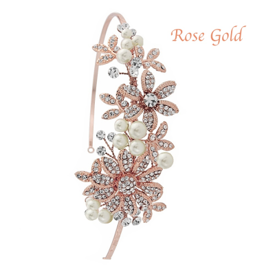 Sass B Scarlett Headband - Rose Gold
