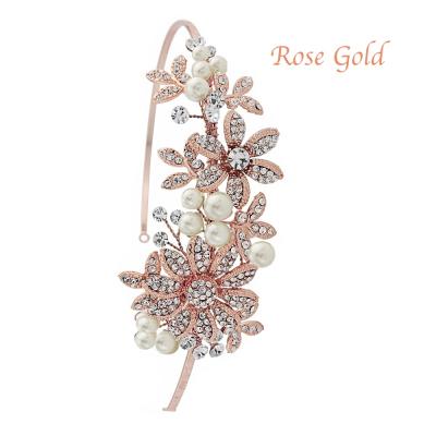 Sass B Scarlett Headband - Rose Gold