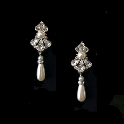 Sass B Collection Exquisite Starlet Pearl Earrings