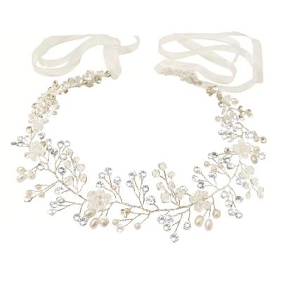 Athena Crystal Shimmer Hair Vine Silver