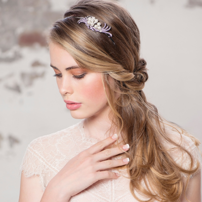 Athena Chic Pearl Headband - Rose Gold
