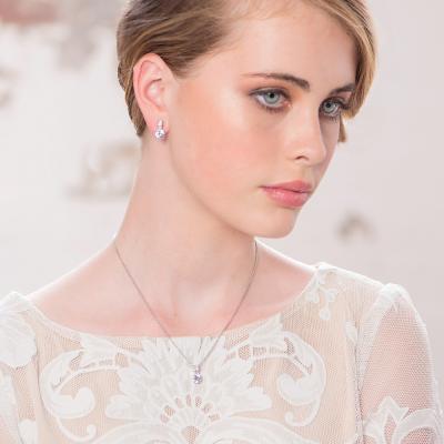 CZ Collection Regal Crystal Necklace Set