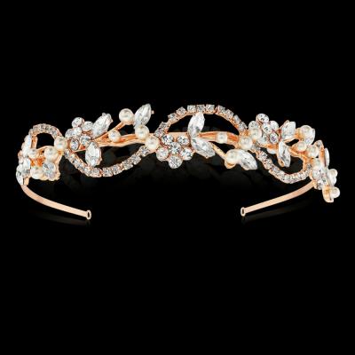 Athena Vintage Chic Hairband Ivory - Rose Gold