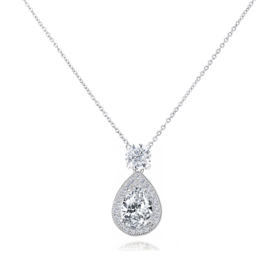 CZ Collection Dazzling Crystal Drop Necklace