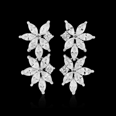 CZ Collection Statement Gem Earrings