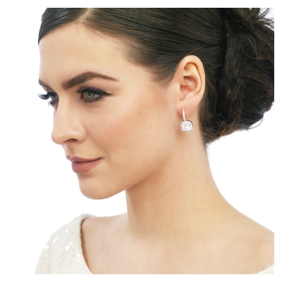 CZ Timeless Beauty Earrings - Rose Gold