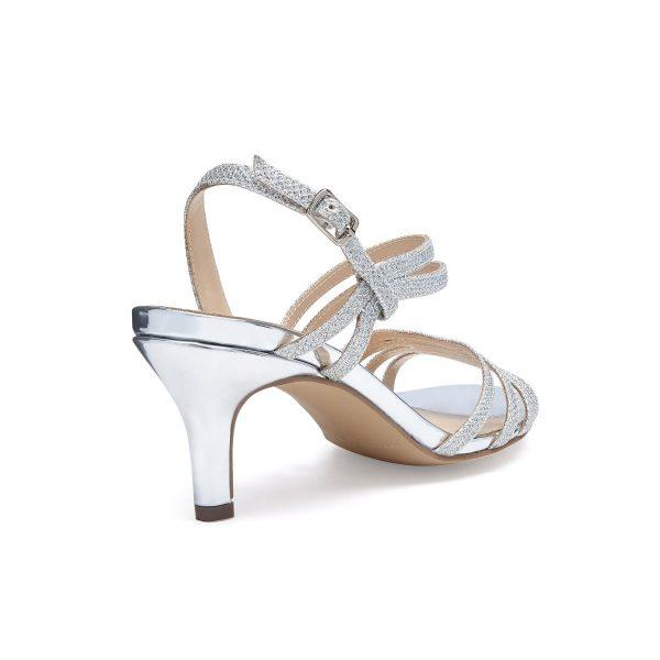 Pink Paradox Sania - Low Heel Silver Asymmetric Sandal